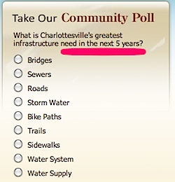 City of Charlottesville infrastructure survey