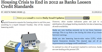 Housing Crisis to End in 2012 as Banks Loosen Credit Standards.jpg