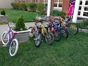 Full bike rack in Crozet
