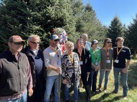 The Estes family with the 2021 White House tree. From left to right: James Pinkerton, Dale Haney, Beau Estes, Ann Estes, Katirie Estes, Rusty Estes, Riley Estes, Amanda Estes and Colin Estes.