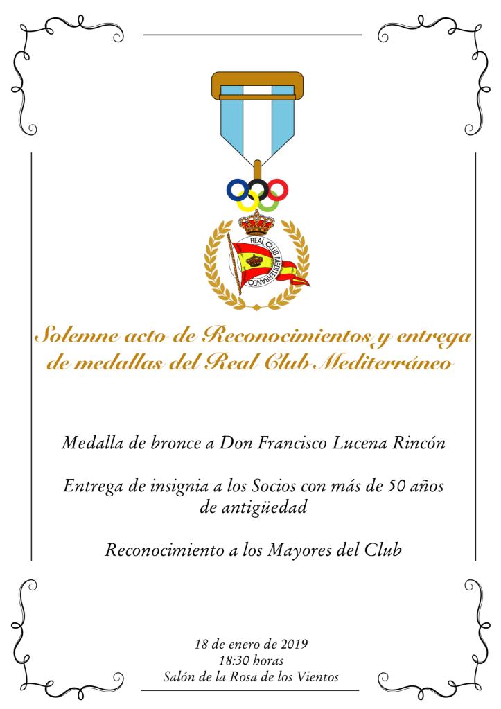 Solemne acto de Reconocimientos y entrega de medallas del Real Club Mediterráneo