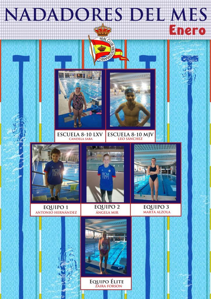 Nadadores del mes de enero