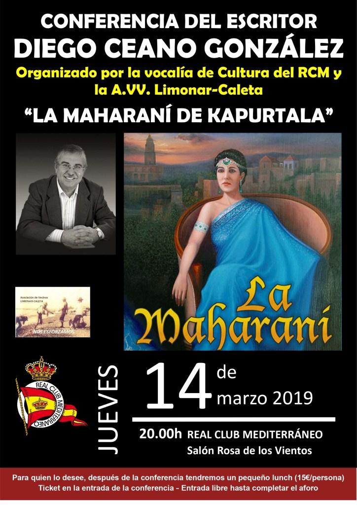 """Conferencia del escritor Diego Ceano González: """"La Maharaní de Kapurtala"""""""