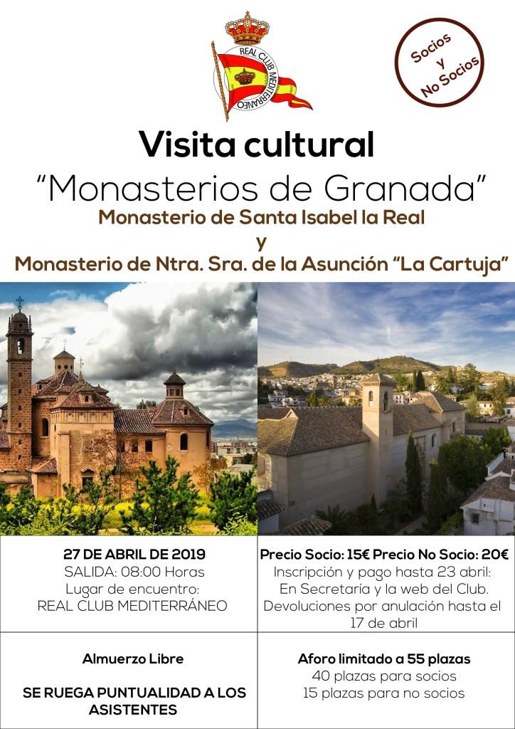 """Visita guiada al Monasterio de Santa Isabel la Real y al Monasterio de Nuestra Señora de la Asunción """"La Cartuja"""""""