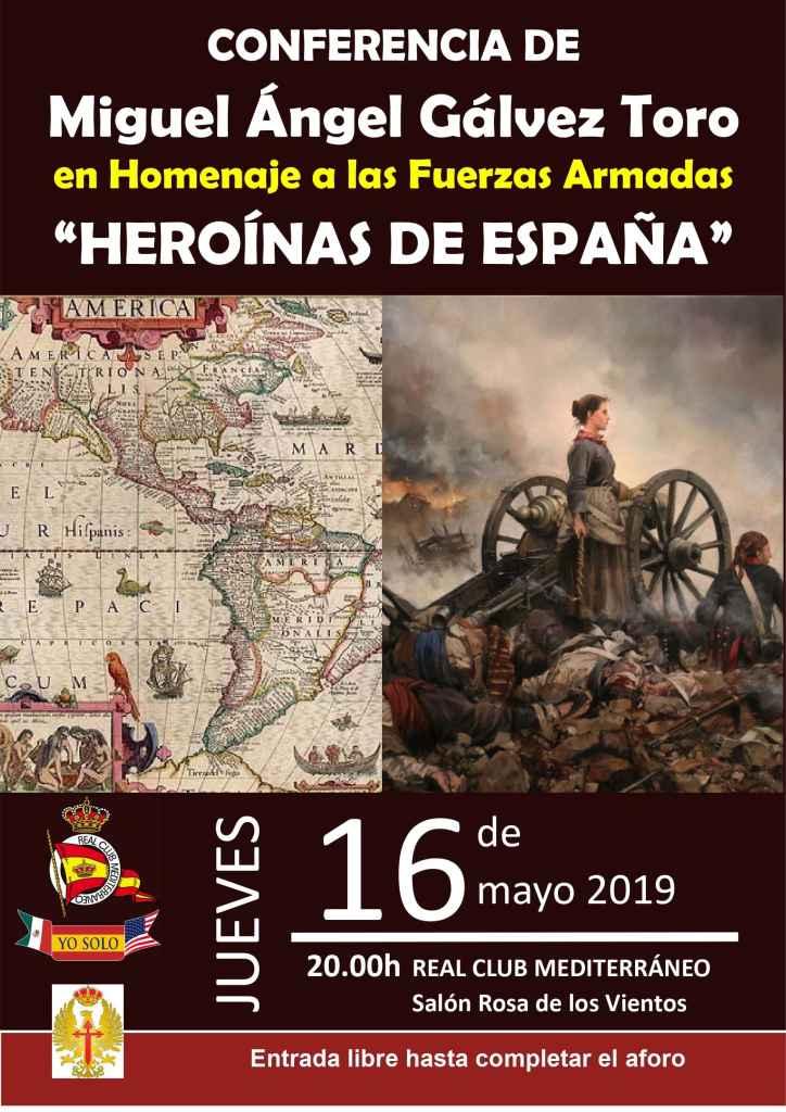 """Conferencia de Miguel Ángel Gálvez Toro en homenaje a las Fuerzas Armadas """"Heroínas de España"""""""