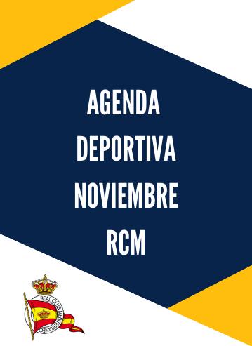 Agenda deportiva RCM noviembre