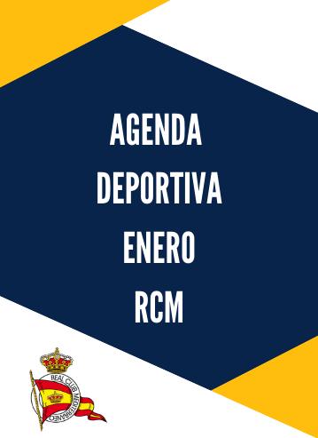 Agenda deportiva RCM enero