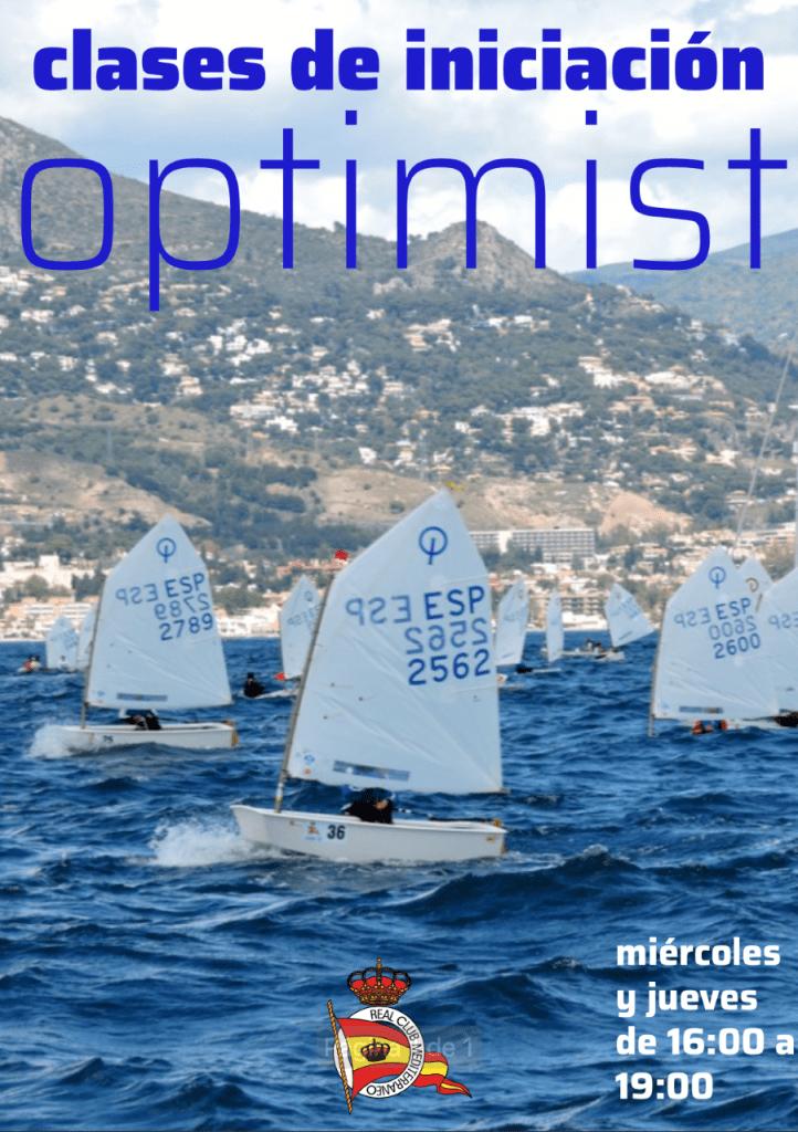 Nuevas clases de iniciación de clase Optimist