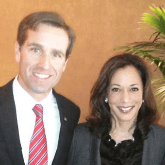Beau Biden and Kamala Harris