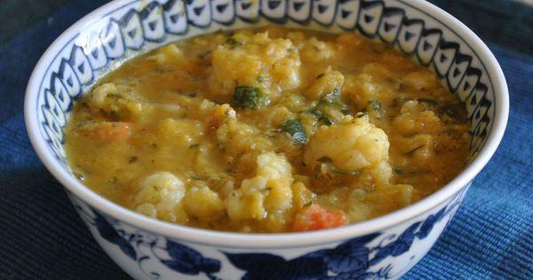 Гороховый суп с картофелем и цветной капустой простой ...