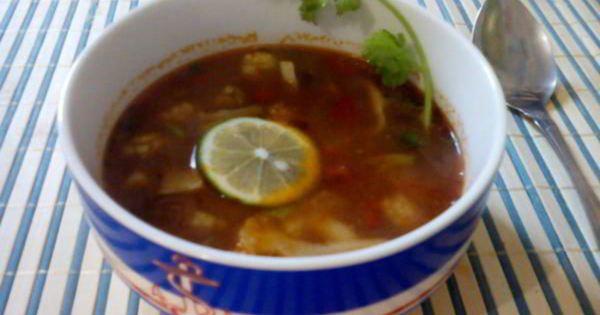 Суп с цветной капустой и морепродуктами простой домашний ...
