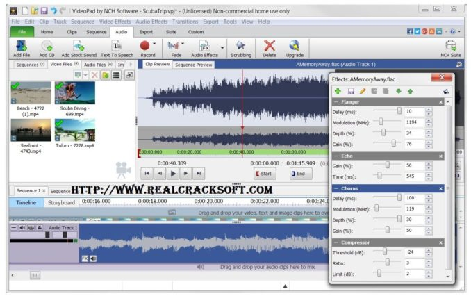 Free Download VideoPad Video Editor 6 01 Registration Code +