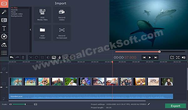 Movavi Video Editor Crack Screenshot