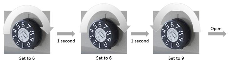 玄関ポスト、鍵の開け方