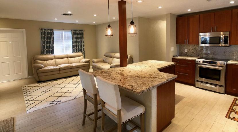 Pompano-Beach-2 kitchen and living