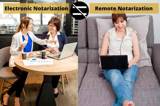 Electronic notarization is different from remote notarization!