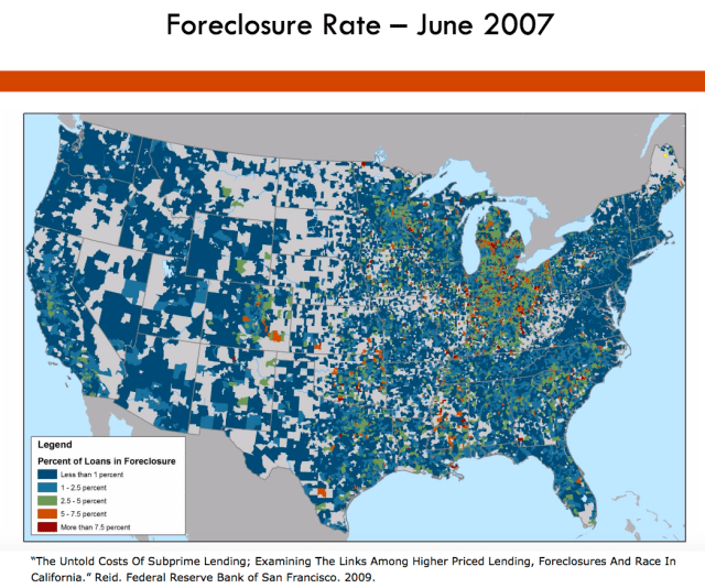 Foreclosure Map 2007