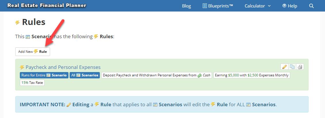 Add Rule to Scenario