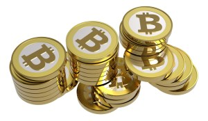 stack of bitcoins