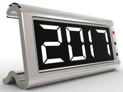 calendar clock with 2017