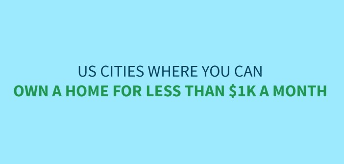Cities Where You Can Own a Home for $1K or Less Per Month