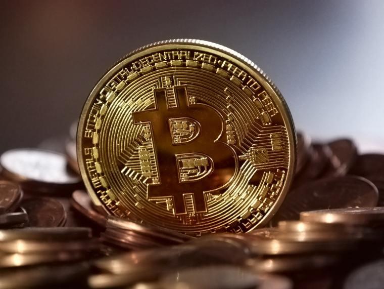 Decorative Bitcoin coin