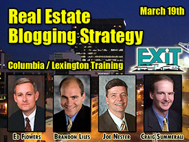Columbia / Lexington Real Estate Blogging Strategy Training March 19th, 2009