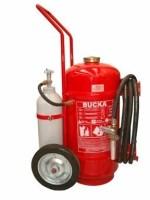 Extintor de incêndio sobre rodas pó químico abc 50 kg