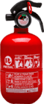 Extintor de incêndio automotivo 1 kg 5 anos fiat