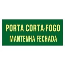 Placa Fotoluminescente Rota de Fuga Porta Corta Fogo M4