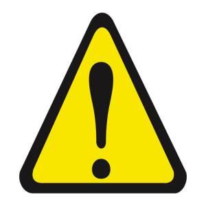 Placa sinalização fotoluminescente alerta geral A1
