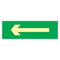 Placa sinalização fotoluminescente rota de fuga saída indicação de direção C1