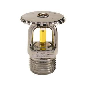 "Sprinkler upright 79 graus resposta padrão 15 mm 1/2"" Cromado"