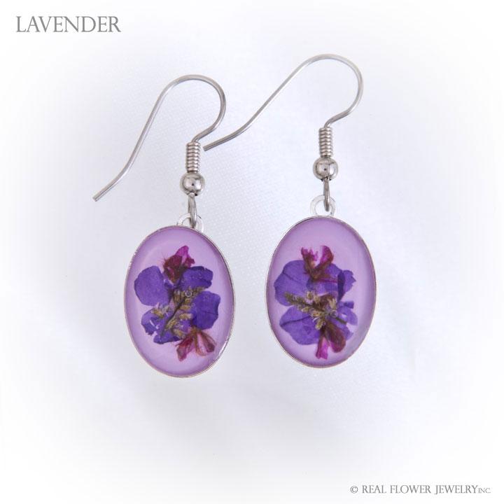 Lavender Wild Flower Large Earrings