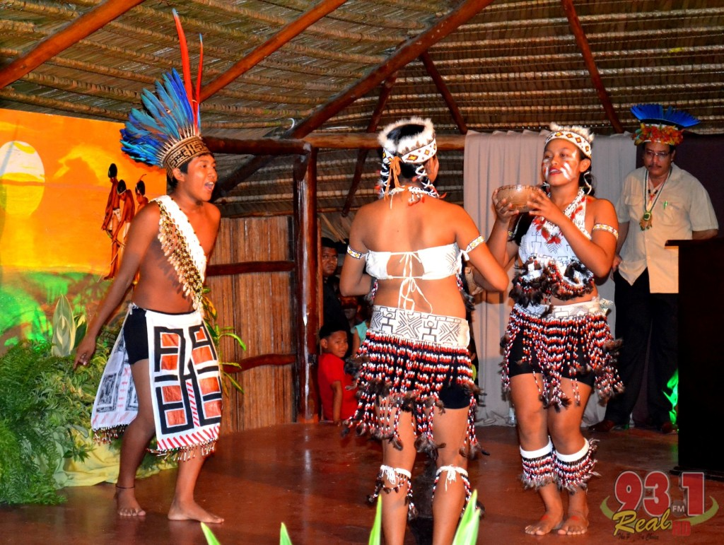 The Surama Cultural Group performing a dance and song.