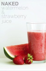 Naked Watermelon and Strawberry Juice via Real Food By Dad