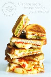 Pesto Grilled Cheese via Real Food by Dad