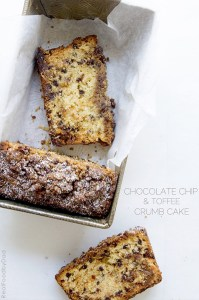 Chocolate Chip Toffee Crumb Cake by Real Food by Dad