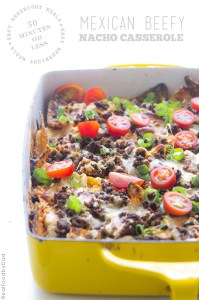Beefy Nacho Casserole via Real Food by Dad