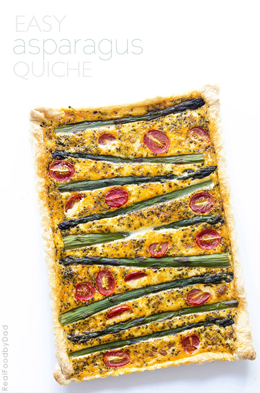 Easy Aspargus Quiche from Real Food by Dad.