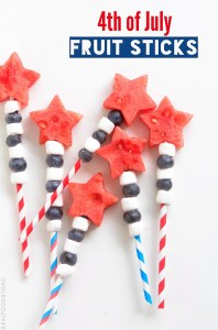 th of July Fruit Sticks via Real Food by Dad