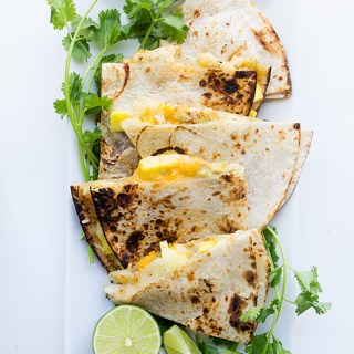 Tequila Chicken Quesadillas