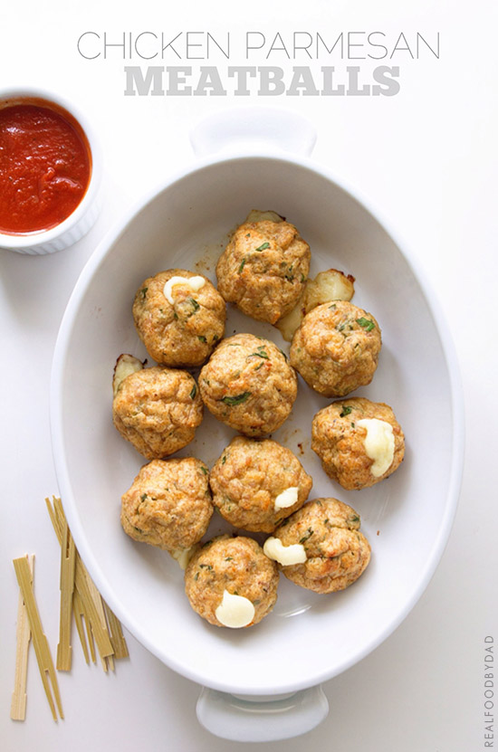 Chicken Parmesan Meatballs by Real Food by Dad
