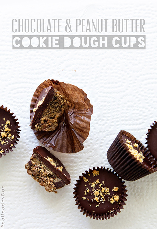 Chocolate and Peanut Butter Cookie Dough Cups by Real Food by Dad