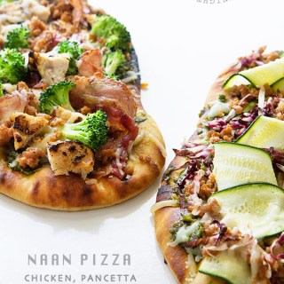 Chicken, Pancetta and Broccoli Naan Pizza