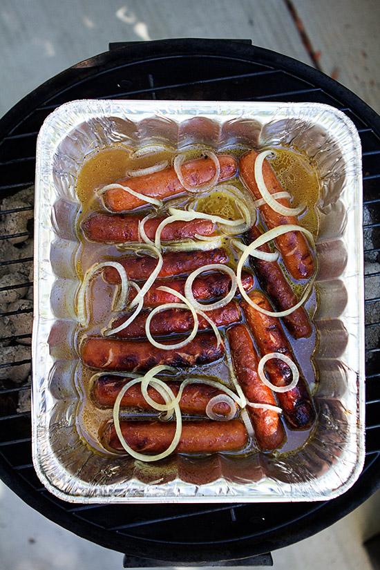 Johnsonville Bratwurst hot tub