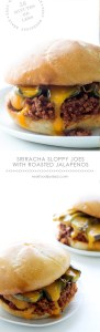 Sriracha Sloppy Joes with Roasted Jalapenos from Real Food by Dad