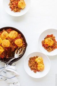 One Pan Chili Cobbler from Real Food by Dad