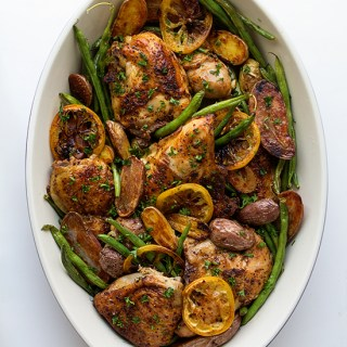 Braised Chicken with Green Beans and Potatoes via Real Food by Dad