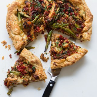 Grilled Chicken and Asparagus Tart